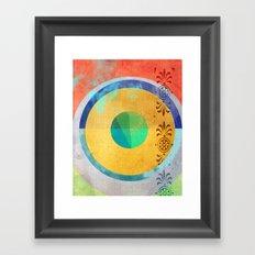 Half Quater Hue Framed Art Print