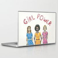 girl power Laptop & iPad Skins featuring girl power by ElenaM