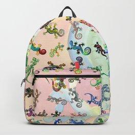 Painted Geckos Backpack