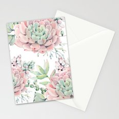 Pink Succulents by Nature Magick Stationery Cards