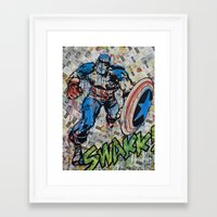 kirby Framed Art Prints featuring Kirby by RIOTCOLORS
