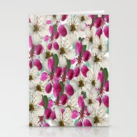 matty healy Stationery Cards featuring Spring Blossoms Abstract  by Judy Palkimas