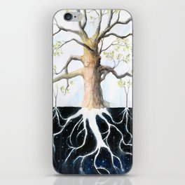 Underneath, Mother Tree and Seedlings, Surreal Illustration iPhone Skin