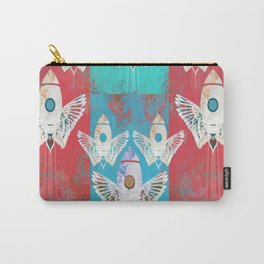 Magic Rocket Wings Space Print Carry-All Pouch