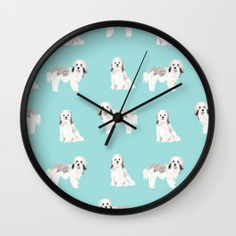 Havanese dog breed gifts for dog lover pure breed must haves Wall Clock