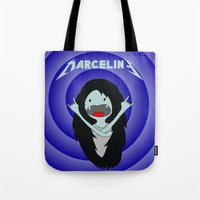 marceline Tote Bags featuring Metal Marceline by totemxtotem