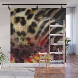 Animal Print & Floral Collage Wall Mural