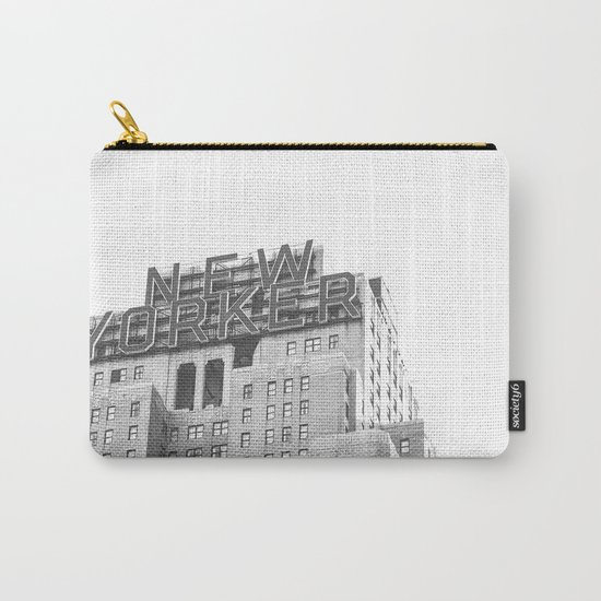 New Yorker Sign - NYC Black and White Carry-All Pouch