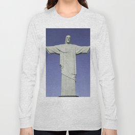 Detailed closeup of the Christ the Redeemer statue in Brazil Long Sleeve T-shirt