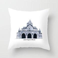 Saint Gayane Church Throw Pillow