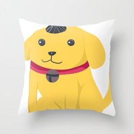Cute Cartoon Dog Throw Pillow