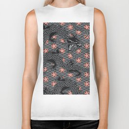 Hidden Dragon / Oriental dragon design Biker Tank
