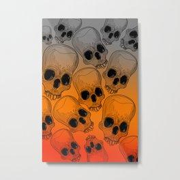 Multitude of Skulls Metal Print