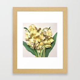 Oxlip Bees Framed Art Print