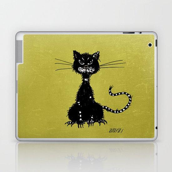 Ragged Evil Black Cat Laptop & iPad Skin