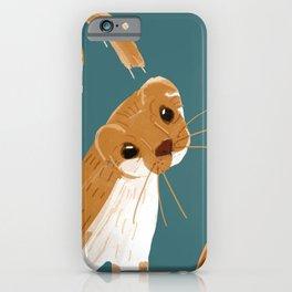 Funny Weasel ( Mustela nivalis ) iPhone Case