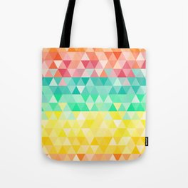 Rainbow triangles Tote Bag