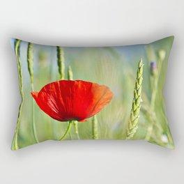 Flower in a corn field Rectangular Pillow