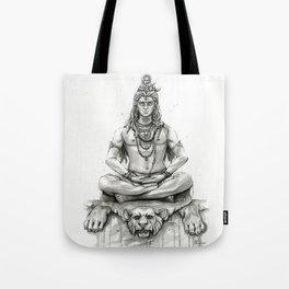 Lord Shiva Painting, Shiva Art, Meditation Shiva Portrait Tote Bag