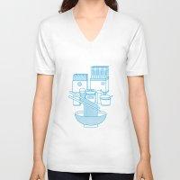 ramen V-neck T-shirts featuring Ramen Set by Design Made in Japan
