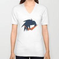 gurren lagann V-neck T-shirts featuring Minimalist Kamina by 5eth
