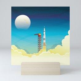 Apollo 11 take-off Mini Art Print