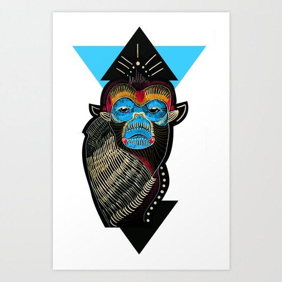 Color me Monkey Art Print
