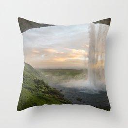 Seljalandsfoss Dawn Throw Pillow