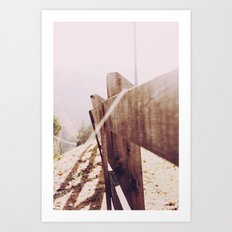 Fence in the Sunlight Art Print