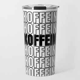 Caffeine coffee morning cappuccino gift Travel Mug
