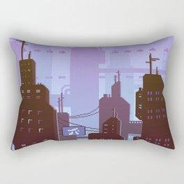 Future night skyline Rectangular Pillow