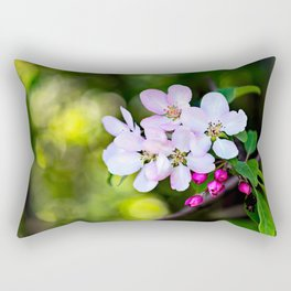 Beautiful Crab Apple Flowers Rectangular Pillow