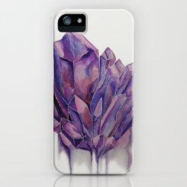 Purple Crystal iPhone Case