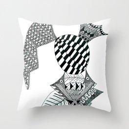 Fish Egg Creature Throw Pillow