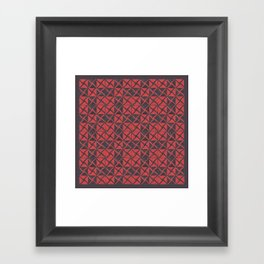 Patternsmith Triangles Red Framed Art Print