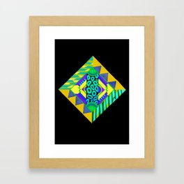 Neon Diamond Framed Art Print