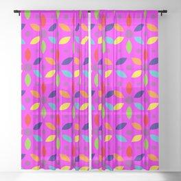 flowery magenta sheild Sheer Curtain