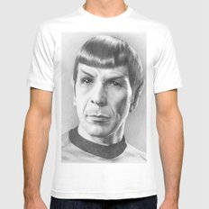 Spock - Fascinating (Star Trek TOS) MEDIUM White Mens Fitted Tee