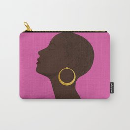 BBLOOMM - Illustration, Floral, Big Chop, Melanin, Pink Carry-All Pouch