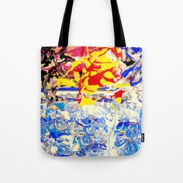 Abstract painting  - Sunset over The Sea Tote Bag