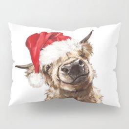 Christmas Highland Cow Pillow Sham