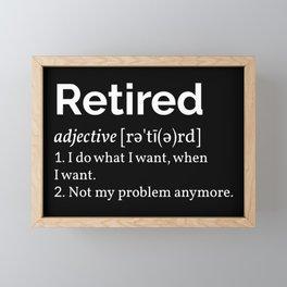 Retired Definition I Framed Mini Art Print