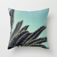 palms Throw Pillows featuring Palms by RichCaspian