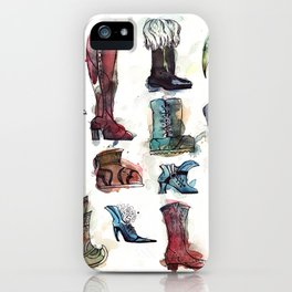 Boots of the World iPhone Case