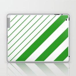Green And White Stripes Pattern Laptop & iPad Skin