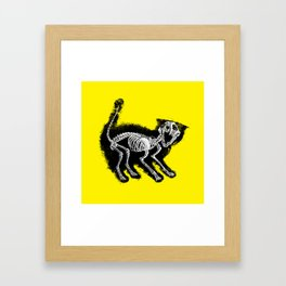 The Purrfect Scare Framed Art Print