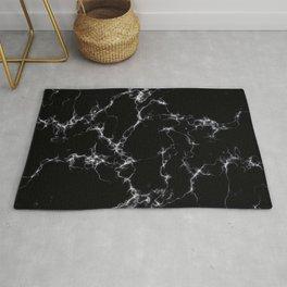 Elegant Marble style4 - Black and White Rug