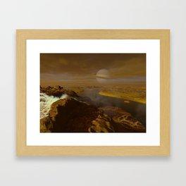 Titan river delta Framed Art Print