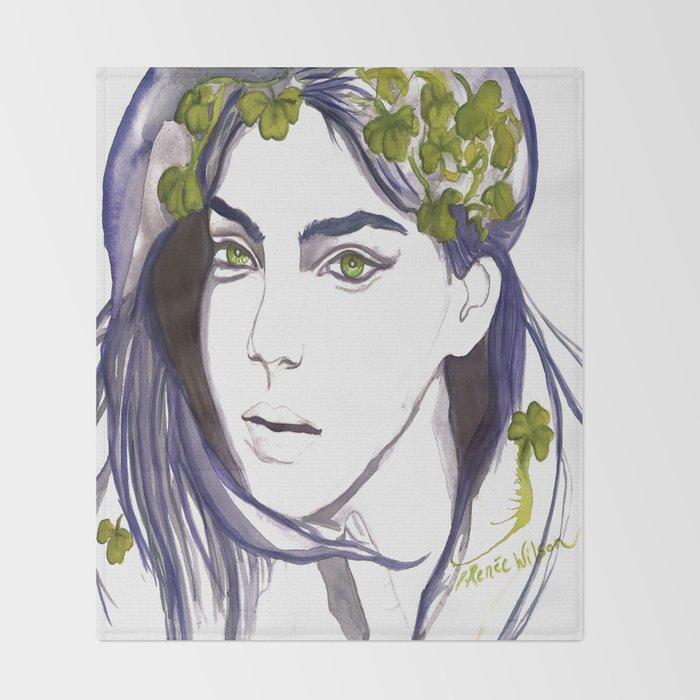 Emerald Eyes Throw Blanket