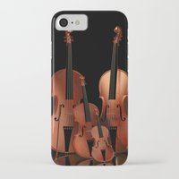 mortal instruments iPhone & iPod Cases featuring String Instruments by Simone Gatterwe